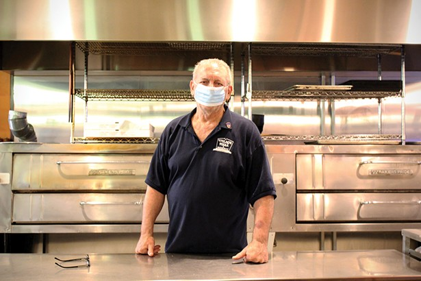 Who would argue against a pizzeria as an essential business? Al Mazzella, owner of Rhinebeck Village Pizza. - PHOTO BY ABBY FOSTER