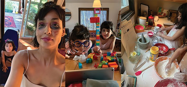 Entrepreneur Marisa Philips at home in Saugerties with her two kids.