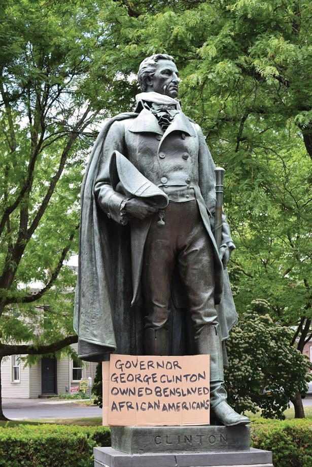 Statue of Governor George Clinton in Academy Green Park in Kingston. - PHOTO: FRANCES CATHRYN