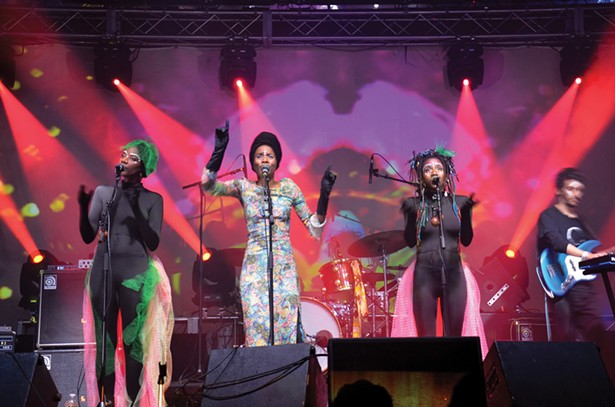 Lady Moon and the Eclipse at the 2019 O+ Festival at BSP in Kingston