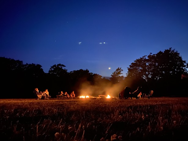 Campfire at dusk at Mohonk Mountain House - PHOTO COURTESY OF MOHONK MOUNTAIN HOUSE