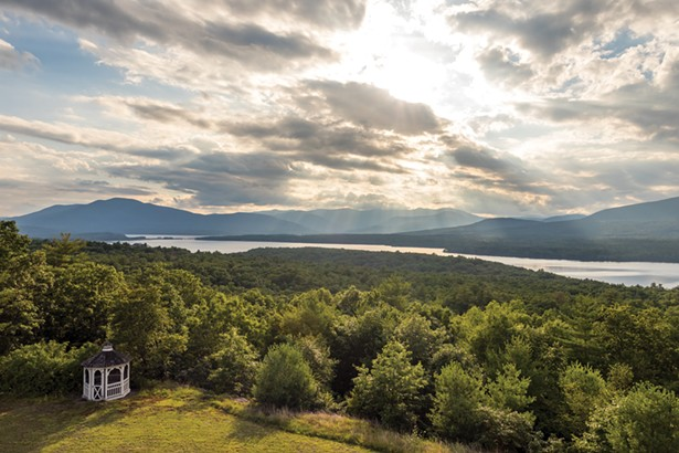 The view from the third-floor cupola encompasses the entirety of the reservoir and many of the southern Catskill Mountains.