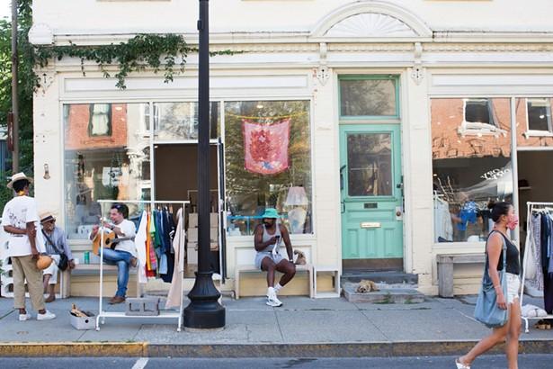 The scene outside of the new Warren Street shop, Bontleng, nextdoor to Nina Z. - PHOTO BY ANGELINA DREEM