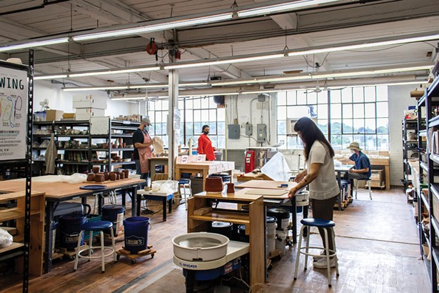 The Kingston Ceramics Studio at the Shirt Factory hosts classes and workshops for all levels.