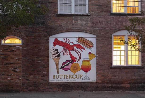 The mural on the wall outside Buttercup. - SABRINA EBERHARD