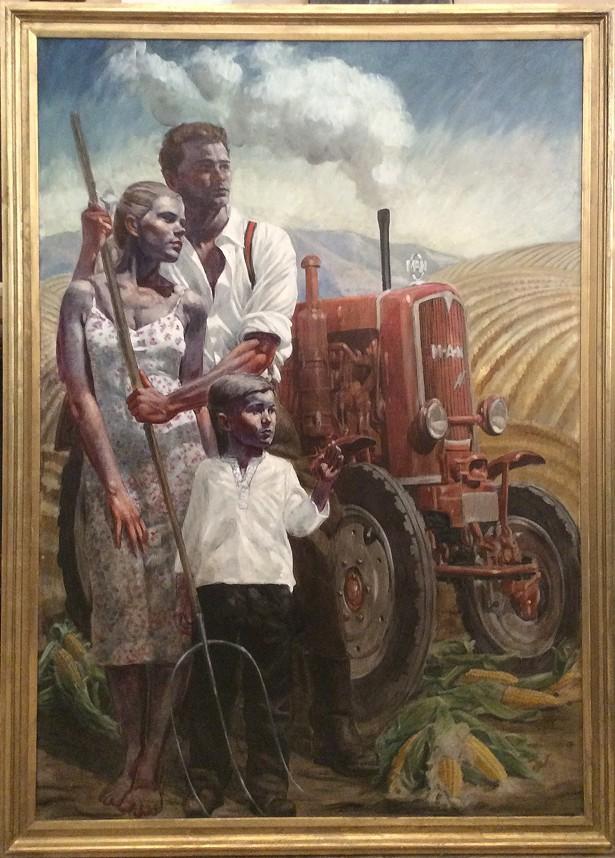 Family in the Field by Mark Beard