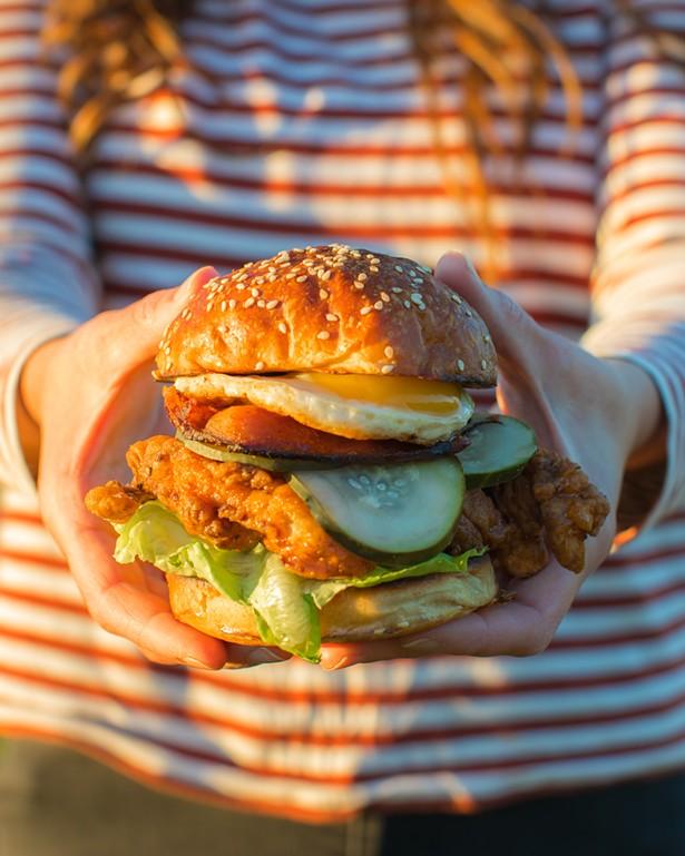 Fried chicken sandwich - STEPH MOSSEY