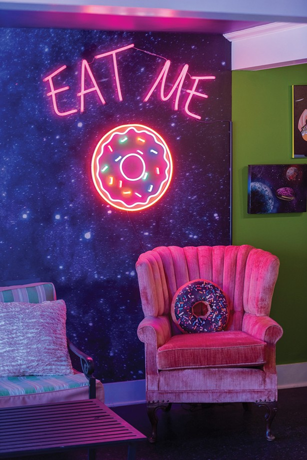 """A """"selfie station"""" perfect for capturing Instagram-worthy photos of you and your donuts. - PHOTO BY AMBER BAUHOFF"""