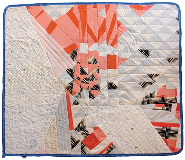 Refraction, quilted moving blanket