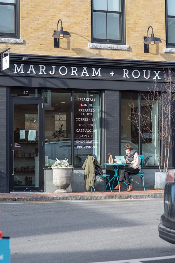 Prepared foods emporium Marjoram + Roux opened in summer 2020 on Railroad Street. - PHOTOS BY BILL WRIGHT
