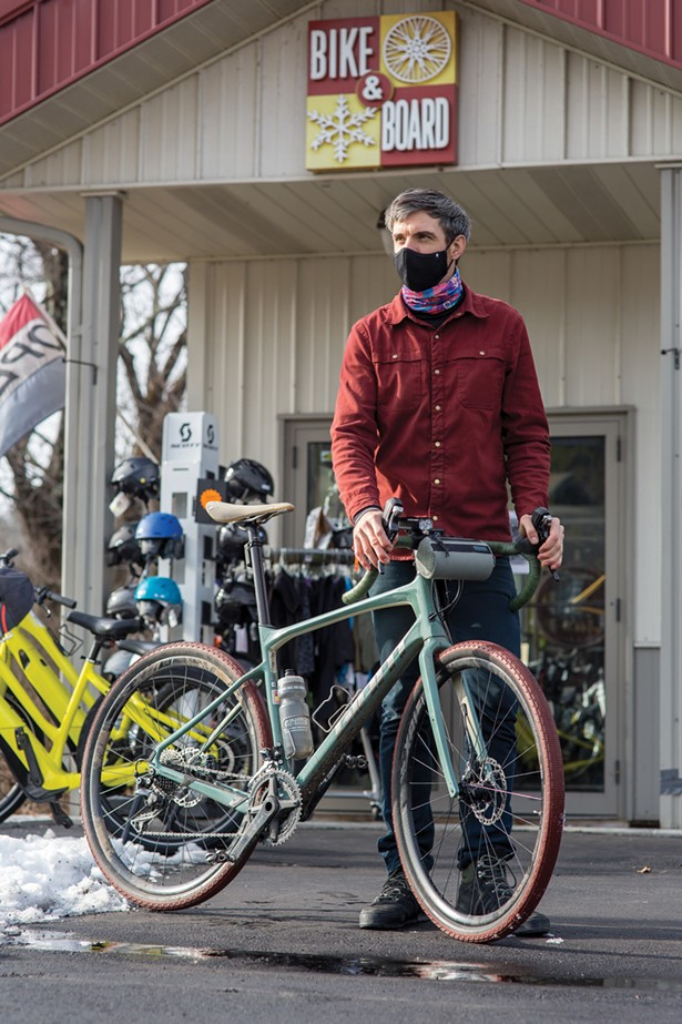 Manager Jay Elling at the Great Barrington location of Berkshire Bike and Board. - PHOTOS BY BILL WRIGHT