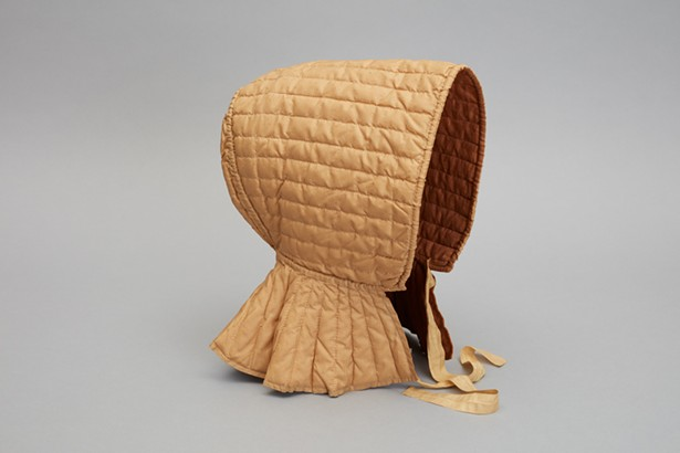 quilted bonnet from the Shaker Museum collection