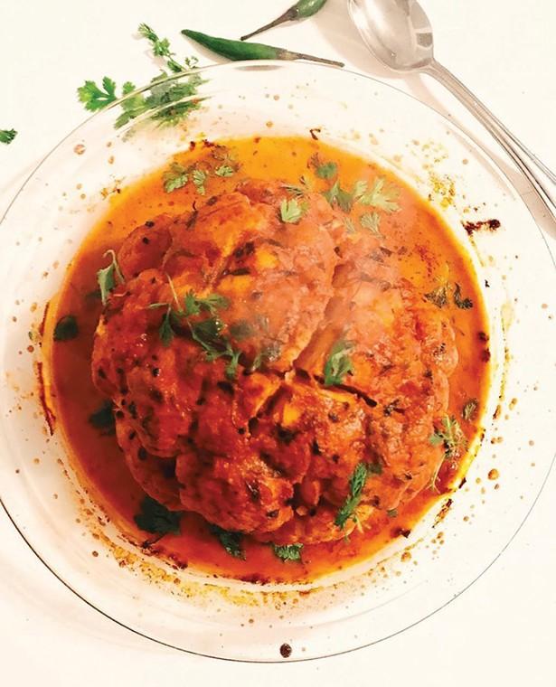 Gobi (cauliflower) Roast with Calcutta Kitchen's Makhani Tikka Sauce