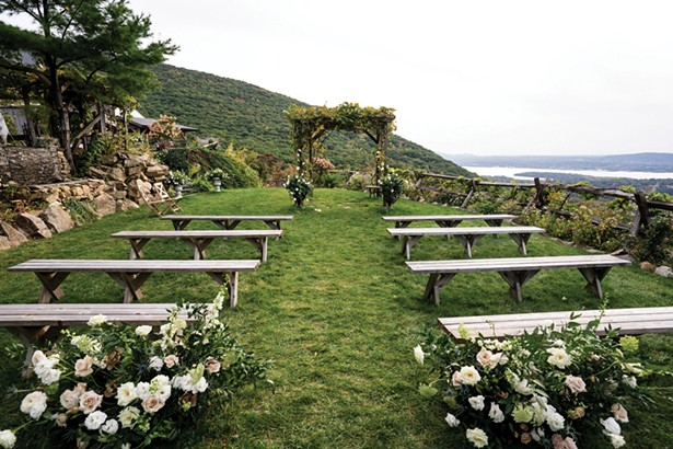 """To accommodate the desire for smaller weddings, Lambs Hill in Beacon created a - """"Mini-Micro"""" wedding package for very intimate weddings. - PHOTO BY PIONEER MEDIA"""