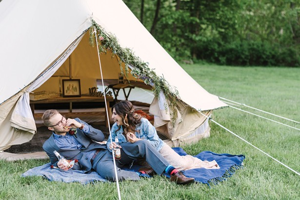 GlampStar glamping tent at Mount Tremper Arts. - PHOTO BY ALICIA KING PHOTO