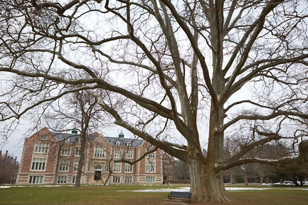 """The Vassar College campus in Poughkeepsie. For the spring semester, Vassar will pursue its """"island"""" model for students once they begin returning this month. Once on campus, students are expected to remain on campus for the duration of the semester. - PHOTO BY DAVID MCINTYRE"""