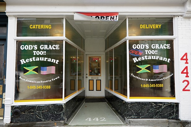 God's Grace Too!! is located on a stretch of Main Street with many Mexican, Caribbean, and soul food restaurants. - PHOTO BY DAVID MCINTYRE