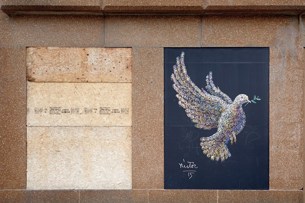 The Dove, a mural by Nestor Madalengoitia on Main Street. - PHOTO BY DAVID MCINTYRE