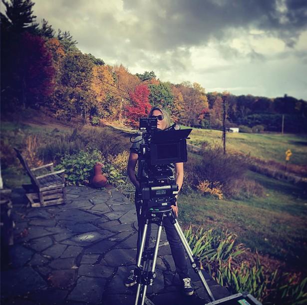 Sarah Pirozek on the set of #Like in Bearsville.