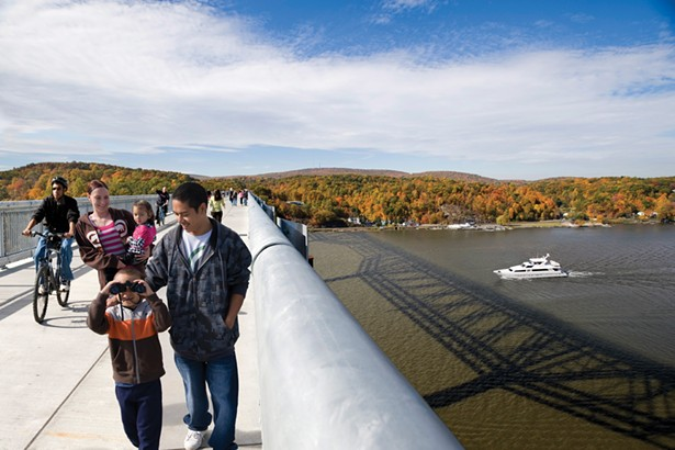 The Walkway Over the Hudson is now a part of the Empire State Trail, which connects 20 regional trails to create a continuous route across the state. It is expected to draw 8.6 million residents and tourists annually.