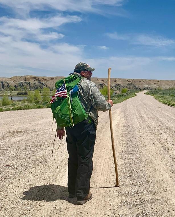 Tommy Zurhellen walking along the Green River in Wyoming, 2019