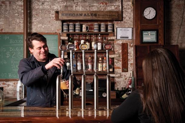 Tommy Keegan behind the bar at Keegan Ales in Kingston in 2009. - JENNIFER MAY
