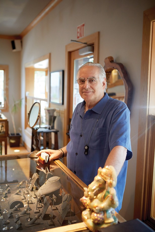 Bruce Lubman of Hummingbird Jewelers, which has been serving Rhinebeck for 36 years. - DAVID MCINTYRE