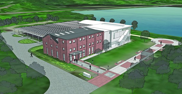 Rendering of the Beatrice G. Donofrio Environmental Education Complex - IMAGE COURTESY OF CLARKSON UNIVERSITY