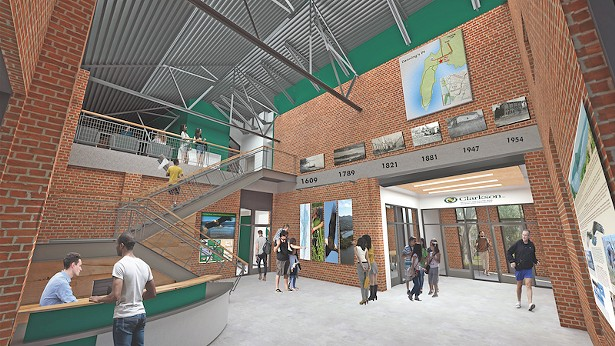 The future Welcome Center at the Beatrice G. Donofrio Environmental Education Complex - IMAGE COURTESY OF CLARKSON UNIVERSITY