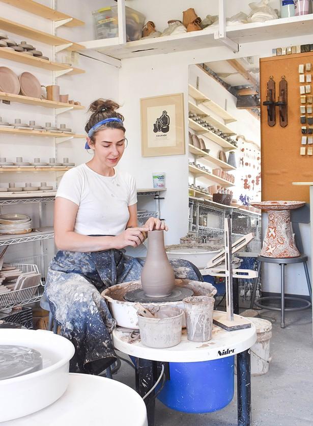 Nicole Helen Brunner, owner of Wild Bower Studio
