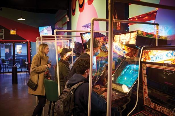 The vintage games at Beacon's Happy Valley Arcade Bar. - DAVID MCINTYRE