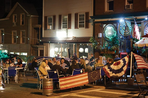 Continuing a COVID-era program, restaurants in Warwick spill out on to local streets on Friday and Saturday nights and Sunday afternoons, accompanied by live music. - DAVID MCINTYRE