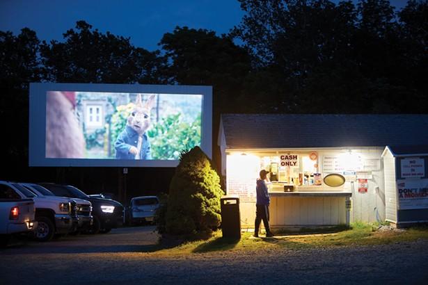 Peter Rabbit 2: The Runaway being screened at the Warwick Drive-In. - DAVID MCINTYRE