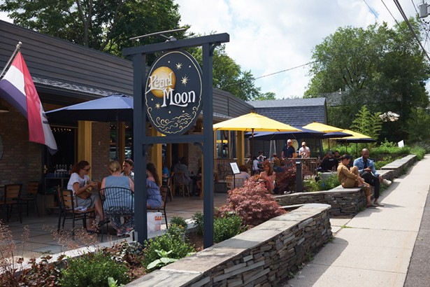 Pearl Moon, a recently opened eatery and concert venue, has ample outdoor seating. - DAVID MCINTYRE