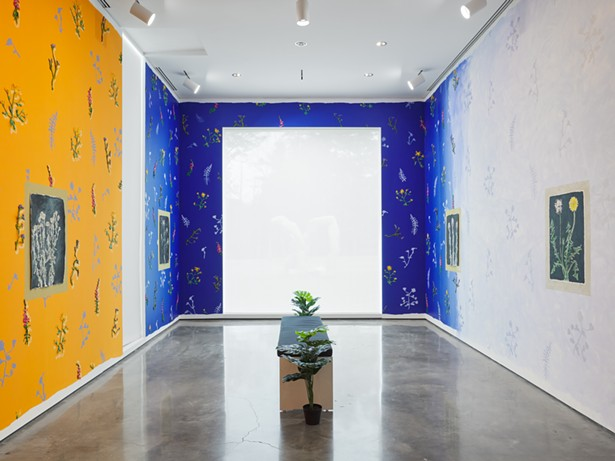 Installation image of With Pleasure: Pattern and Decoration in American Art 1972-1985, June 26 - – November 28, 2021. Hessel Museum of Art, Center for Curatorial Studies, Bard College, Annandale-on-Hudson, NY. - PHOTO: OLYMPIA SHANNON.