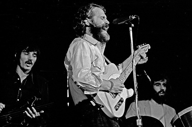 L to R: The Band's Rick Danko, Levon Helm, and Richard Manuel in 1971