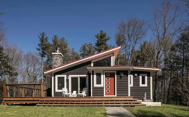Farmhouse 53, a three-bedroom, three-bath in Saugerties, originally sold for $425K and resold for $645K.