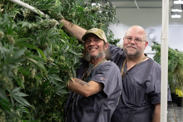 Canna Provisions grow team Johnny Greenfingaz (L) and Chemdog (R) - IMAGES COURTESY OF CANNA PROVISIONS
