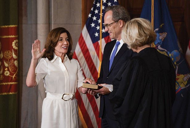 Kathy Hochul was sworn in as New York's first woman governor on August 24.