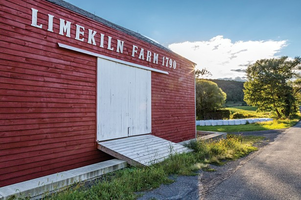 The original red barn complexes were built in the early 19th century. The farm was passed down in the Houghtaling family for generations before it was bought by American painter Lee Adler. Voglino and Zimmerman purchased the property from Adler's family. - WINONA BARTON-BALLENTINE
