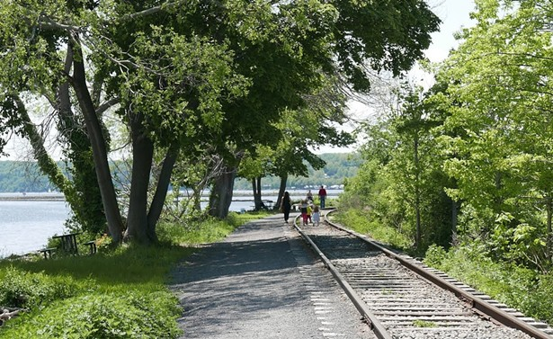 A section of the Kingston Greenline that runs along Kingston Point.