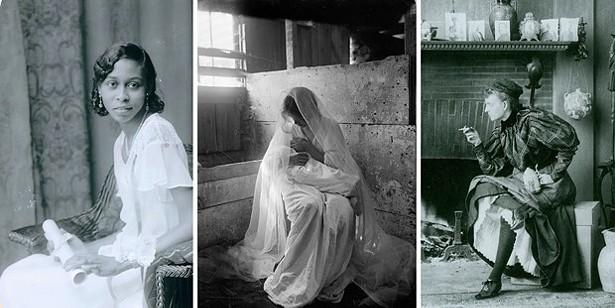 Left to Right: Girl with Diploma, c. 1922-1931, Elise Forrest Harleston; The Manger, 1901, Gertrude Kasebier; The Rebel, 1896, Frances Benjamin Johnston