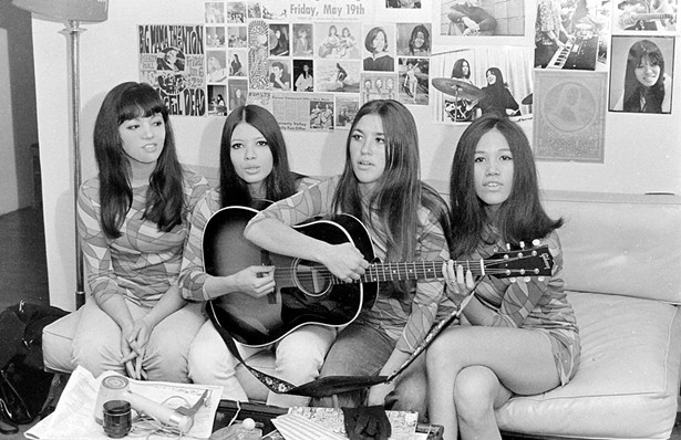 Left to Right: The (pre-Fanny) self-founded Svelts garage band in a home they shared and rehearsed in, in Los Altos Hills, California, in the 1960s: Jean Millington, Brie Darling, Wendy Haas Mull, June - Millington. - STEVE GRIFFITH