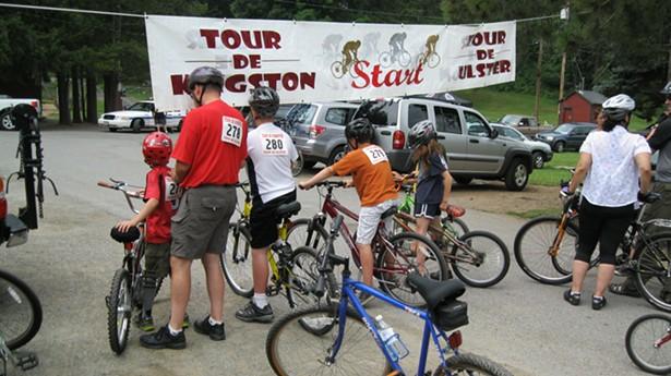 At the Tour de Kingston-Ulster starting line at Forsyth Nature Center - TOM POLK