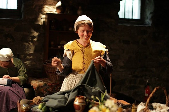 Historical re-enactors will - demonstrate 18th-century crafts at Locust Lawn's St. Maarten's Day event