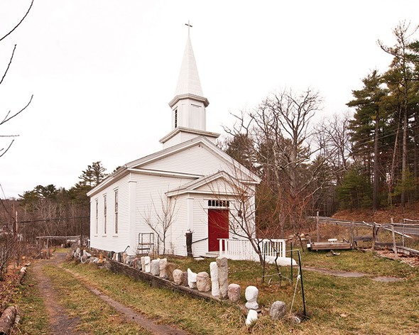 "The exterior of the ""Stolen Church of Glenford"" - DEBORAH DEGRAFFENREID"