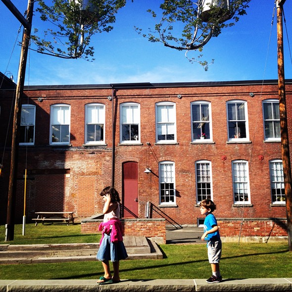 Strolling the grounds at Mass MoCA in North Adams - HILLARY HARVEY