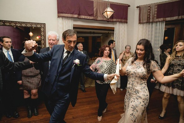 Greek wedding dancing at a reception at The Emerson in Mount Tremper. - MAGIC FLUTE PHOTO AND VIDEO