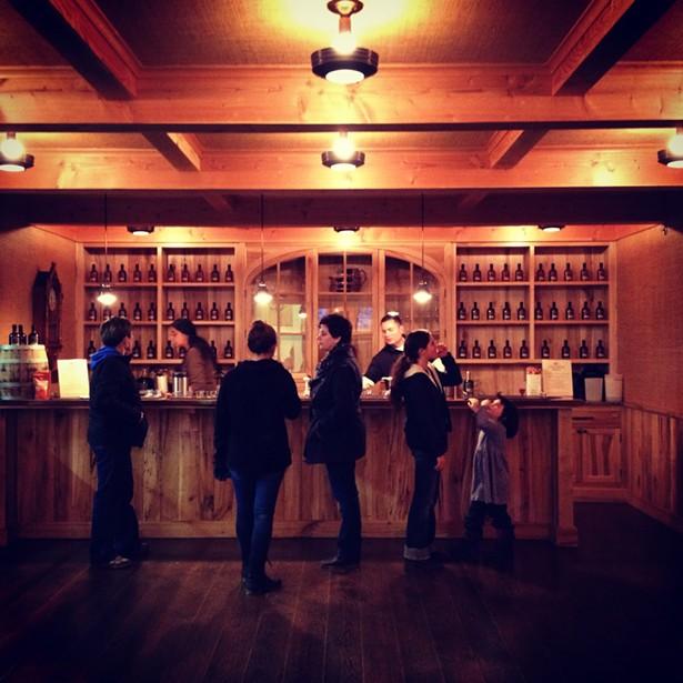The tasting room at Madava Farms - HILLARY HARVEY