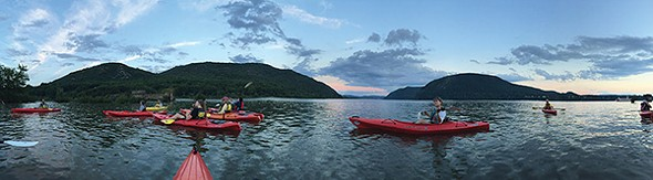 Kayaking on Bannerman Island with Storm King Adventure Tours - BILL BRAINE